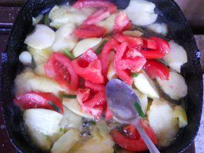 Снимка 4 от рецепта за Тиквички със сирене и яйце на фурна