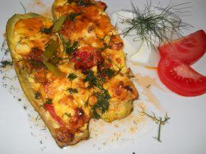 Снимка 9 от рецепта за Тиквички със сирене и яйце на фурна