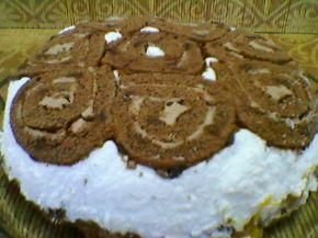 Снимка 2 от рецепта за Торта от рула с крем и банани