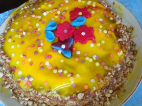 Снимка 2 от рецепта за Торта `Пролетно настроение`
