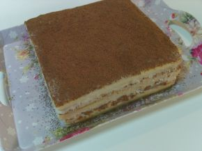 Снимка 2 от рецепта за Торта с праскови, стафиди и какао