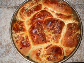 Снимка 4 от рецепта за Тутманик с плънка от сирене и яйца