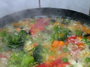 Снимка 2 от рецепта за Ориз със зеленчуци