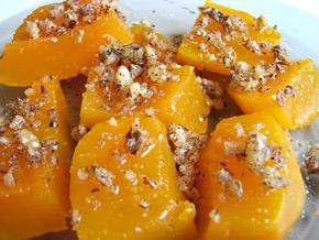 Снимка 1 от рецепта за Варена тиква с орехи и мед
