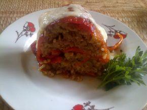 Снимка 3 от рецепта за Венец от печени чушки