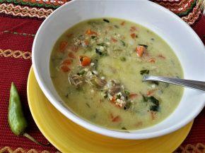 Снимка 2 от рецепта за Вкусна супа със зеленчуци и свинско