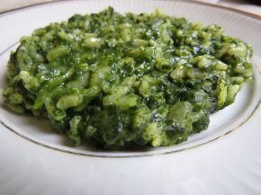 Снимка 2 от рецепта за Задушен спанак с ориз на фурна