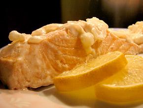 Снимка 1 от рецепта за Задушено филе от сьомга