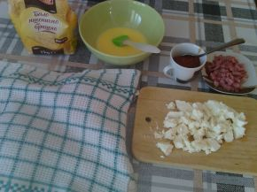 Снимка 3 от рецепта за Закуски-кошници със сирене, колбас, апетитка и чубрица