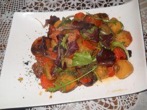 Снимка 4 от рецепта за Картофи с бекон и гъби в плик