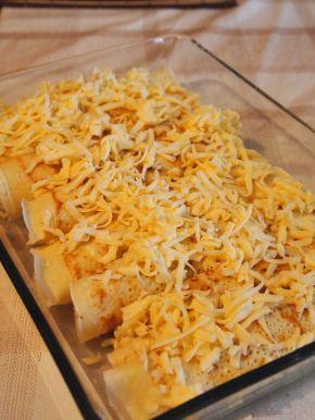 Снимка 4 от рецепта за Запечени палачинки с пълнеж