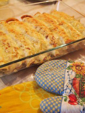 Снимка 6 от рецепта за Запечени палачинки с пълнеж