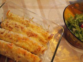 Снимка 8 от рецепта за Запечени палачинки с пълнеж