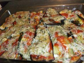 Снимка 8 от рецепта за Запеканка с патладжан и тиквички