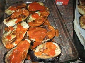 Снимка 5 от рецепта за Запеканка с патладжан и тиквички