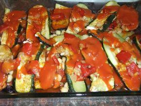 Снимка 6 от рецепта за Запеканка с патладжан и тиквички