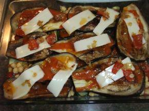 Снимка 7 от рецепта за Запеканка с патладжан и тиквички