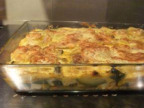 Снимка 5 от рецепта за Запеканка с пилешко филе, тиквички и сварени картофи