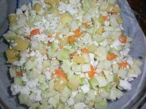 Снимка 2 от рецепта за Запеканка с тиквички и картофи
