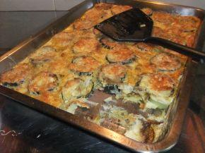 Снимка 10 от рецепта за Запеканка с тиквички и пилешко месо