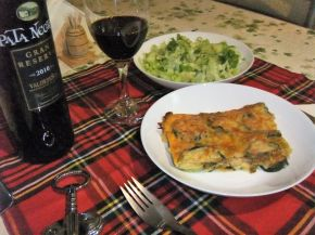 Снимка 11 от рецепта за Запеканка с тиквички и пилешко месо