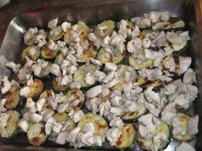Снимка 5 от рецепта за Запеканка с тиквички и пилешко месо