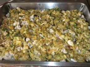 Снимка 7 от рецепта за Запеканка с тиквички и пилешко месо