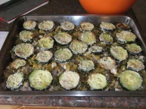 Снимка 8 от рецепта за Запеканка с тиквички и пилешко месо