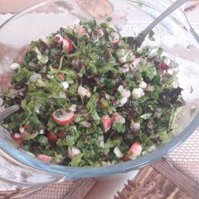 Снимка 9 от рецепта за Зелена салата