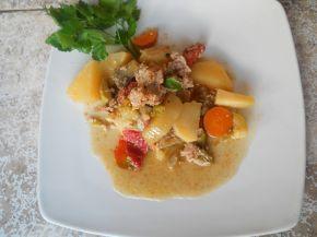 Снимка 3 от рецепта за Зеленчуци с кайма в гювеч