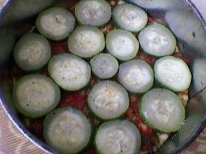 Снимка 3 от рецепта за Зеленчуков чийзкейк с качамак