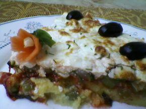 Снимка 4 от рецепта за Зеленчуков чийзкейк с качамак