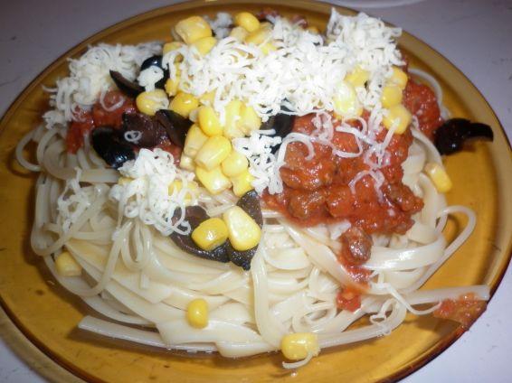 Снимка 2 от рецепта за Спагетини с кайма и още нещо