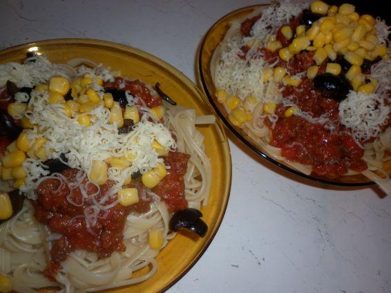Снимка 3 от рецепта за Спагетини с кайма и още нещо