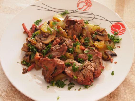 Снимка 1 от рецепта за Дробчета на тиган