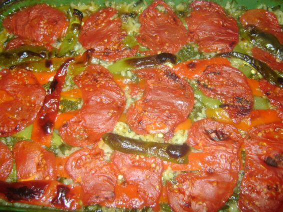 Снимка 1 от рецепта за Оризово-пилешка  запеканка