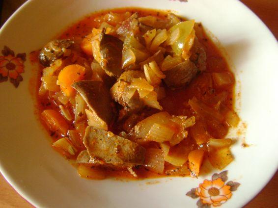 Снимка 1 от рецепта за Пилешки дробчета с кисели зеленчуци