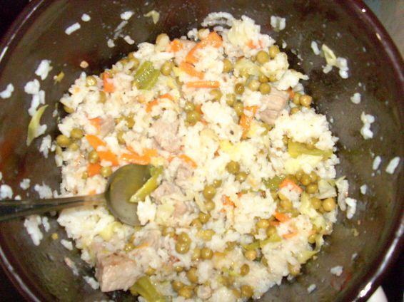 Снимка 1 от рецепта за Варен ориз със зеленчуци и свинско