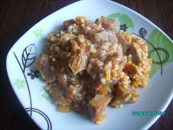 Снимка 1 от рецепта за Бърз винен кебап на фурна