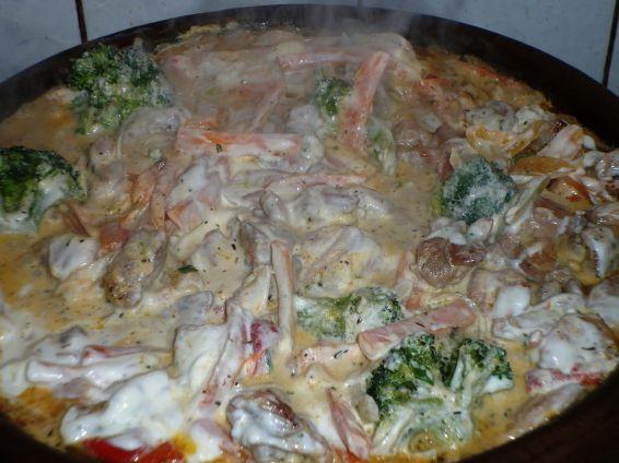 Снимка 1 от рецепта за Сач с пилешко месо