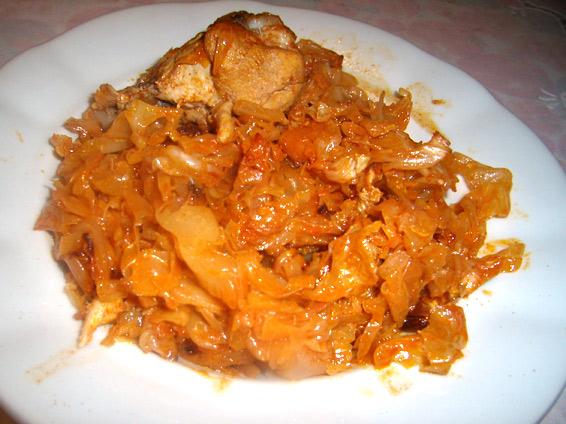 Снимка 1 от рецепта за Пиле с кисело зеле