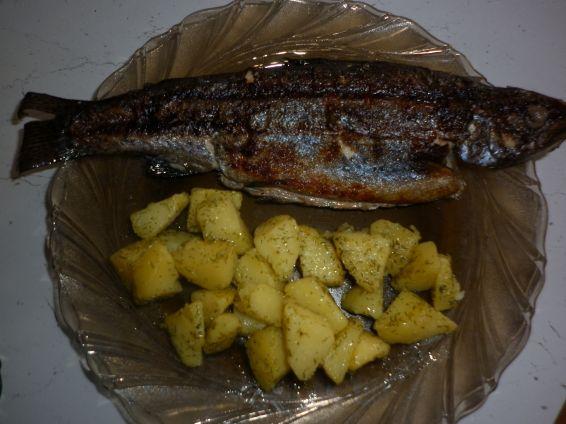 Снимка 1 от рецепта за Пъстърва на скара