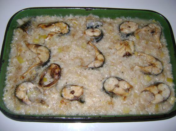 Снимка 1 от рецепта за Риба на фурна с праз и ориз