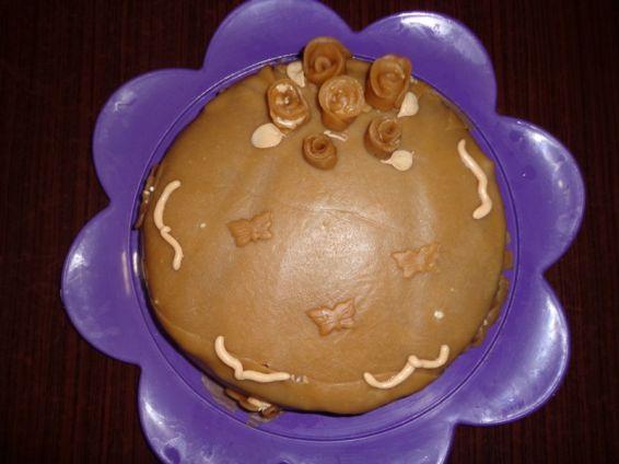 Снимка 1 от рецепта за Торта с орехови блатове и марципан Варна