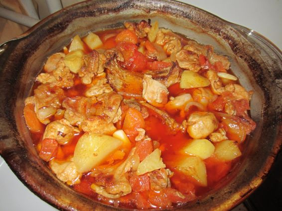 Снимка 1 от рецепта за Заек с картофи