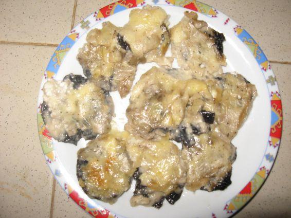 Снимка 1 от рецепта за Печени диви гъби с 3 вида сирена