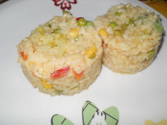 Снимка 1 от рецепта за Ориз с къри, соев сос и зеленчуци