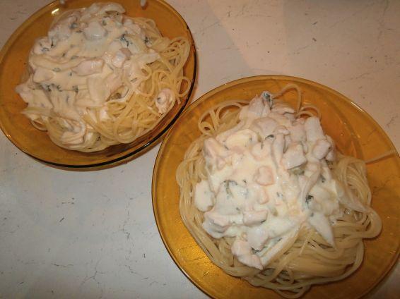 Снимка 1 от рецепта за Спагети с пиле и сметана