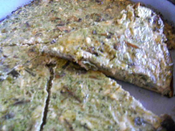 Снимка 1 от рецепта за Киш със спанак и гъби