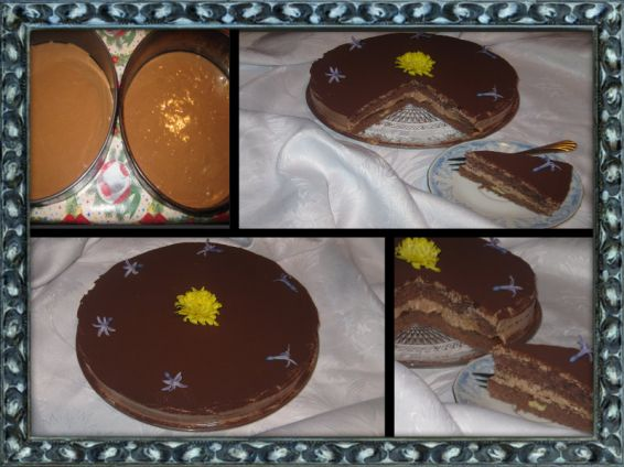 Снимка 1 от рецепта за Шоколадово-кайсиева торта